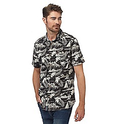 Mantaray - Black vacation print shirt