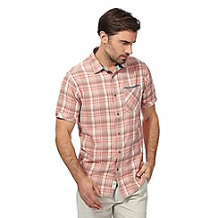 Mantaray - Big and tall pink textured check shirt