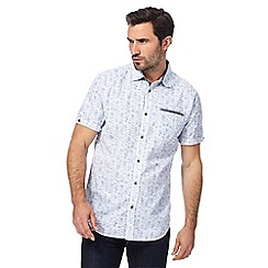 Mantaray - Blue textured regular fit shirt