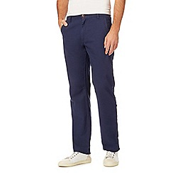 Mantaray - Big and tall navy linen blend trousers