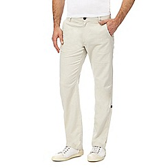 Mantaray - Natural linen blend trousers