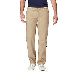 Mantaray - Taupe linen blend trousers