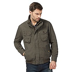 Mantaray - Big and tall khaki rib hem tunnel jacket