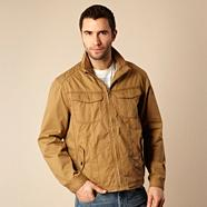Big and tall tan lightweight bomber jacket