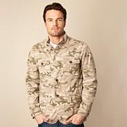 Big and tall natural lightweight camouflage printed jacket