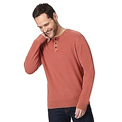 Mantaray - Big and tall orange textured grandad top