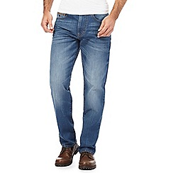 Mantaray - Big and tall blue light wash straight fit jeans