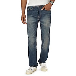 Mantaray - Big and tall blue vintage wash loose fit jeans
