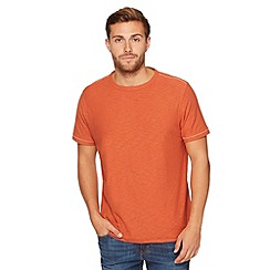 Mantaray - Big and tall dark orange crew neck t-shirt