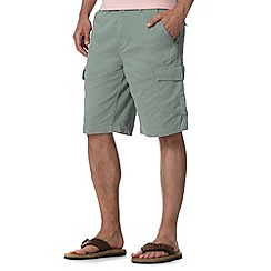 Mantaray - Big and tall light green twill cargo shorts