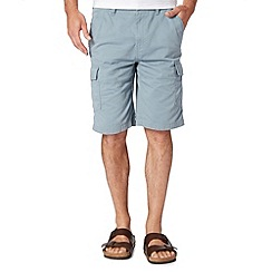 Mantaray - Big and tall light blue pocket cargo shorts