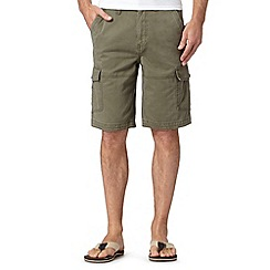 Mantaray - Big and tall khaki pocket cargo shorts
