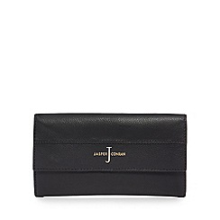 J by Jasper Conran - Black leather large flapover purse
