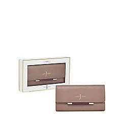 J by Jasper Conran - Pink leather bar detail purse in a gift box