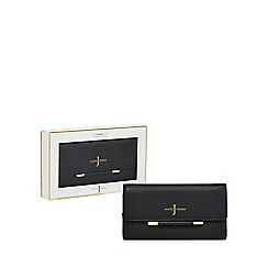 J by Jasper Conran - Black leather bar detail purse in a gift box