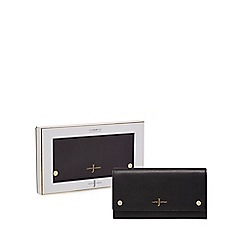 J by Jasper Conran - Black leather travel wallet in a gift box