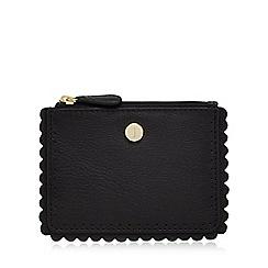 J by Jasper Conran - Black leather scallop coin purse
