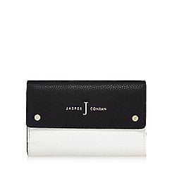 J by Jasper Conran - Black and white colour block medium purse
