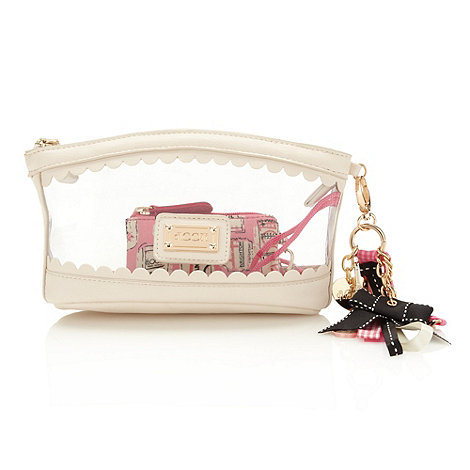 Floozie by Frost French - Cream scallop trimmed make up bag