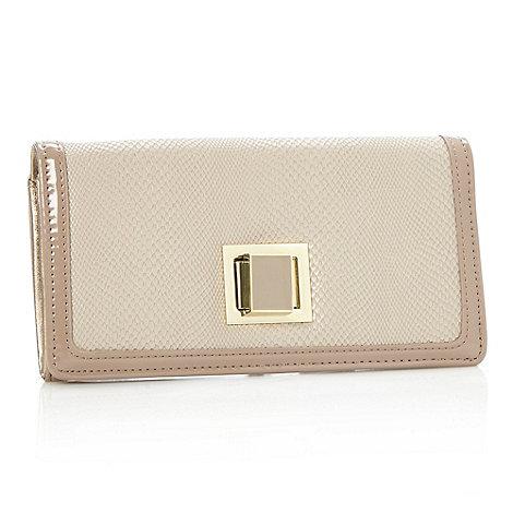 J by Jasper Conran - Designer natural faux snakeskin flapover purse