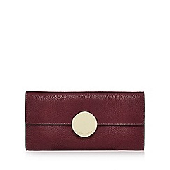 J by Jasper Conran - Dark red circle fitting large flap-over purse