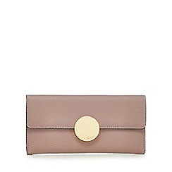 J by Jasper Conran - Light pink circle fitting large flap-over purse