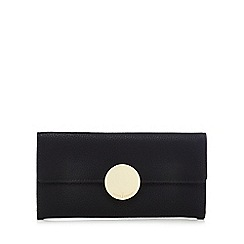 J by Jasper Conran - Black circle fitting large flap-over purse