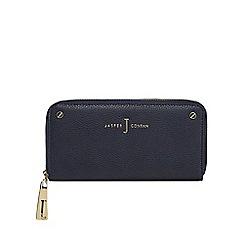 J by Jasper Conran - Navy studded double zip purse