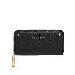 J by Jasper Conran - Black studded double zip purse