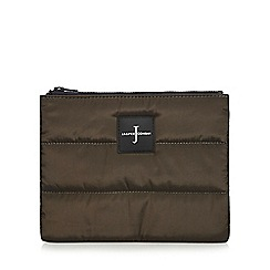 J by Jasper Conran - Khaki quilted pouch wallet