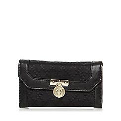 J by Jasper Conran - Designer black jacquard flapover purse