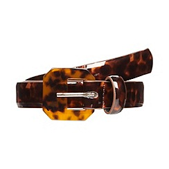 The Collection - Brown tortoise shell belt