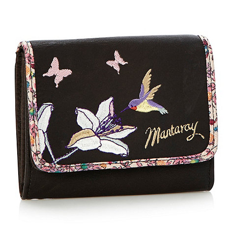 Mantaray - Dark brown flapover hummingbird purse