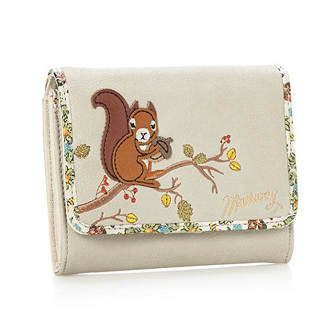Mantaray - Natural squirrel flapover purse