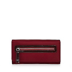The Collection - Dark pink zip front large purse