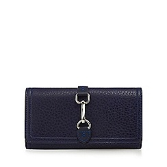 The Collection - Navy buckle detail fold over purse