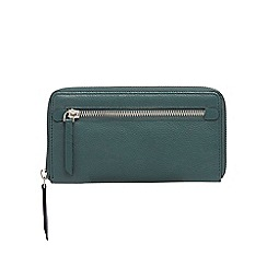 The Collection - Green leather large purse