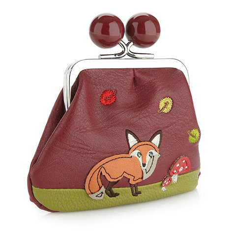 Mantaray - Dark red applique fox coin purse