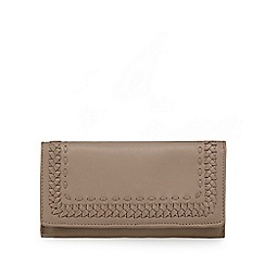 The Collection - Grey leather whipstitch large flap over purse