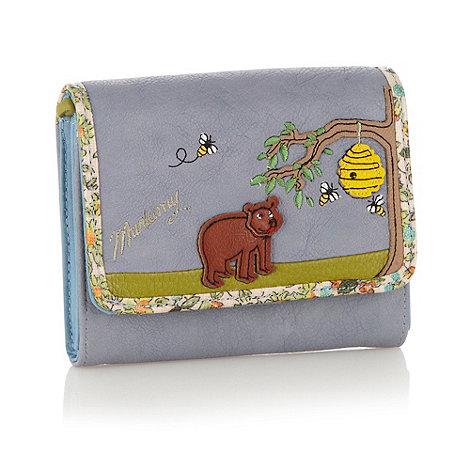 Mantaray - Light blue applique bear purse