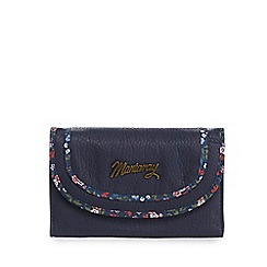 Mantaray - Navy floral trim flap over purse