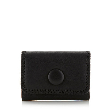 RJR.John Rocha - Designer black leather medium stitch trim purse