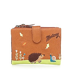Mantaray - Tan embroidered hedgehog purse