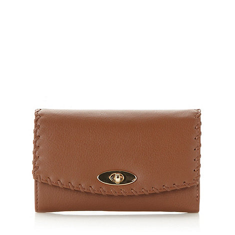 RJR.John Rocha - Designer tan leather stitched purse