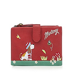 Mantaray - Red dog embroidered purse