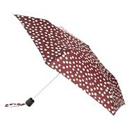 Designer dark red spotted umbrella