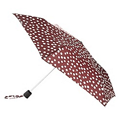 RJR.John Rocha - Designer dark red spotted umbrella