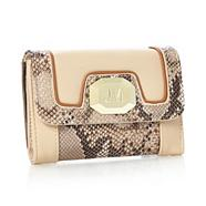 Designer Natural Snake Panel Purse