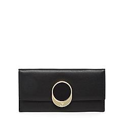 Star by Julien Macdonald - Black logo plate large purse