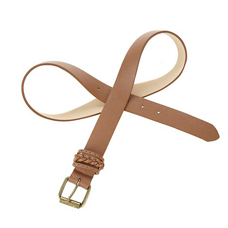 Mantaray - Tan plaited keeper belt